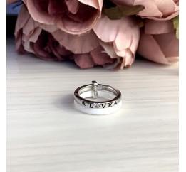 Серебряное кольцо SilverBreeze с керамикой (1908228) 16.5 размер