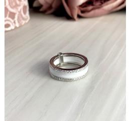 Серебряное кольцо SilverBreeze с керамикой (1998083) 16.5 размер
