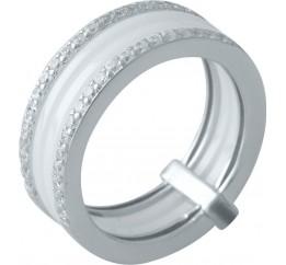 Серебряное кольцо SilverBreeze с керамикой (1998083) 18.5 размер