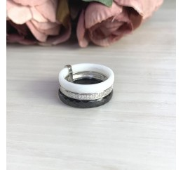 Серебряное кольцо SilverBreeze с керамикой (2021346) 18.5 размер