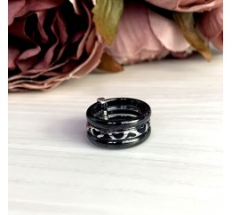 Серебряное кольцо SilverBreeze с керамикой, емаллю (1977040) 18 размер