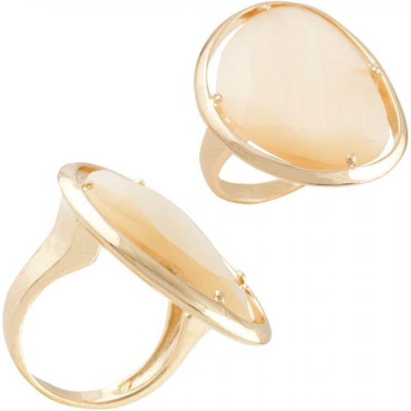 Серебряное кольцо SilverBreeze с кошачим глазом (1463802) 17 размер