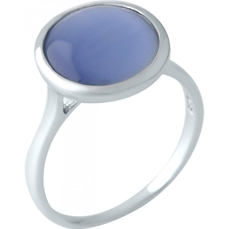 Серебряное кольцо SilverBreeze с кошачим глазом (1955444) 18 размер