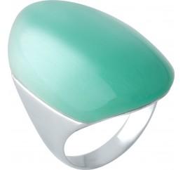 Серебряное кольцо SilverBreeze с кошачим глазом (1955475) 17.5 размер