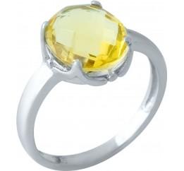 Серебряное кольцо SilverBreeze с цитрином nano (1968062) 17.5 размер