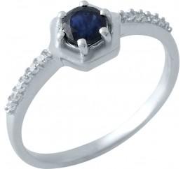 Серебряное кольцо SilverBreeze с натуральным сапфиром (1971093) 17 размер