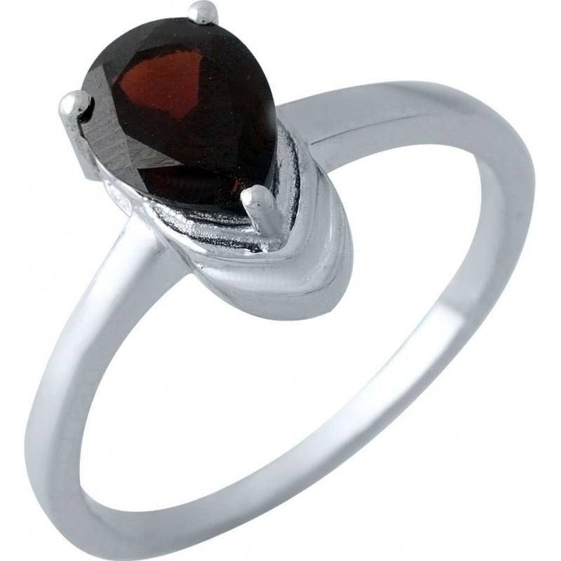 Серебряное кольцо SilverBreeze с натуральным гранатом (1971475) 18.5 размер