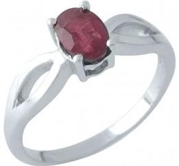 Серебряное кольцо SilverBreeze с натуральным рубином (1972083) 17 размер