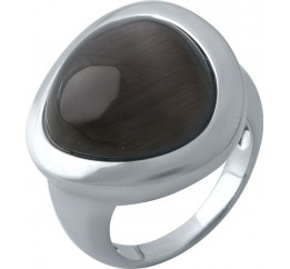 Серебряное кольцо SilverBreeze с кошачим глазом (1975015) 18 размер