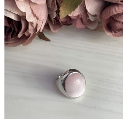Серебряное кольцо SilverBreeze с кошачим глазом (1975268) 18 размер