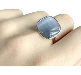Серебряное кольцо SilverBreeze с кошачим глазом (1975282) 17 размер