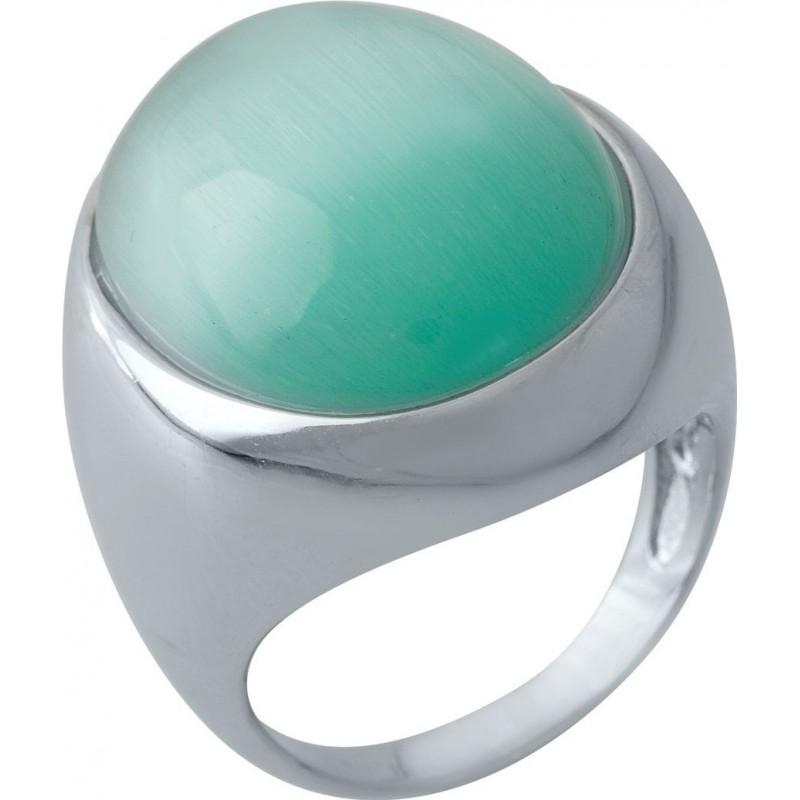 Серебряное кольцо SilverBreeze с кошачим глазом (1975329) 17.5 размер