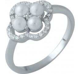 Серебряное кольцо SilverBreeze с натуральным перламутром (1980286) 17 размер