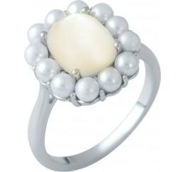 Серебряное кольцо SilverBreeze с натуральным перламутром,  (1980361) 17 размер