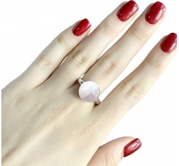 Серебряное кольцо SilverBreeze с кошачим глазом (1984642) 19 размер