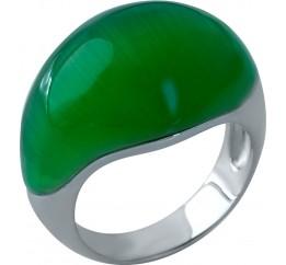 Серебряное кольцо SilverBreeze с кошачим глазом (1984734) 18 размер