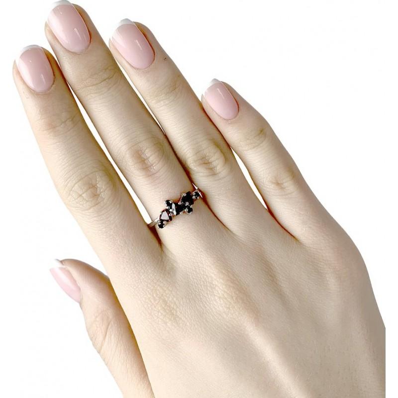 Серебряное кольцо SilverBreeze с натуральным гранатом (1987544) 18 размер