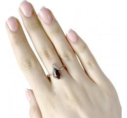 Серебряное кольцо SilverBreeze с натуральным гранатом (1987551) 17 размер