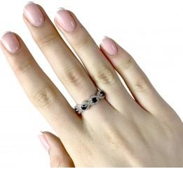 Серебряное кольцо SilverBreeze с натуральным гранатом (1987940) 18.5 размер