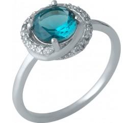 Серебряное кольцо SilverBreeze с натуральным топазом Лондон Блю (1988510) 17.5 размер