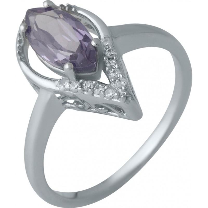 Серебряное кольцо SilverBreeze с олександритом (1988725) 17.5 размер