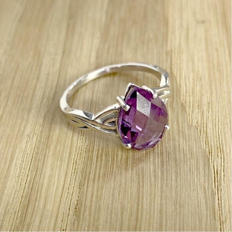 Серебряное кольцо SilverBreeze с олександритом (1989173) 18 размер