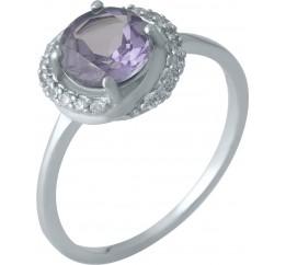 Серебряное кольцо SilverBreeze с олександритом (1989180) 17.5 размер