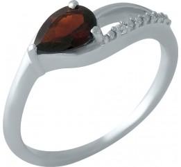 Серебряное кольцо SilverBreeze с натуральным гранатом (1995631) 17.5 размер