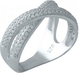 Серебряное кольцо SilverBreeze с фианитами (2001409) 17 размер