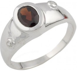 Серебряное кольцо SilverBreeze с натуральным рубином (1090961) 17 размер