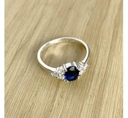 Серебряное кольцо SilverBreeze с сапфиром nano (1937716) 17 размер