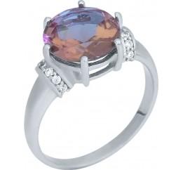 Серебряное кольцо SilverBreeze с Султанит султанитом (1964705) 17.5 размер