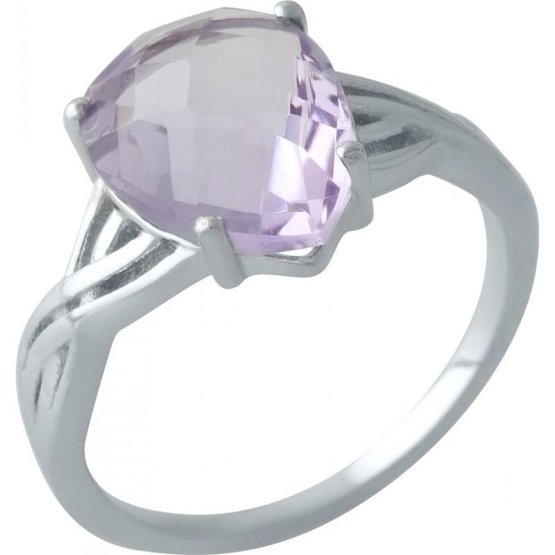 Серебряное кольцо SilverBreeze с натуральным аметистом (2007449) 18.5 размер