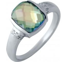 Серебряное кольцо SilverBreeze с натуральным мистик топазом (2016953) 17.5 размер