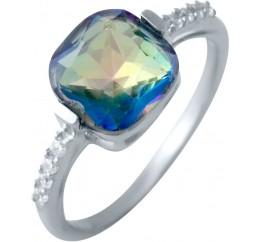 Серебряное кольцо SilverBreeze с натуральным мистик топазом (2016984) 18 размер