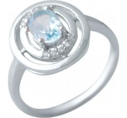 Серебряное кольцо SilverBreeze с натуральным топазом (2018650) 17 размер