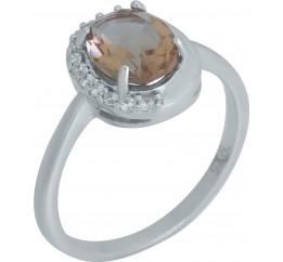 Серебряное кольцо SilverBreeze с Султанит султанитом (2007876) 18.5 размер