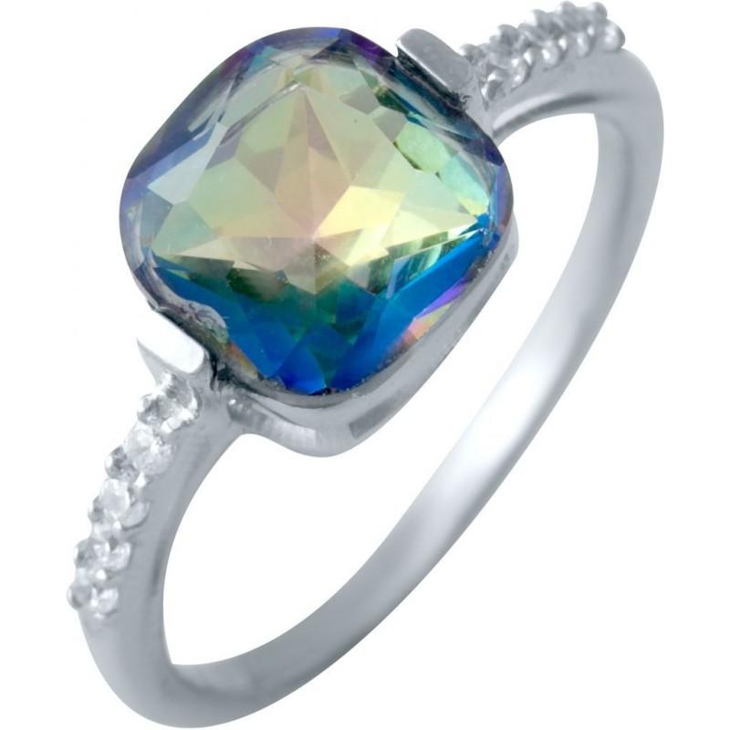Серебряное кольцо SilverBreeze с натуральным мистик топазом (2016984) 17 размер
