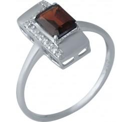 Серебряное кольцо SilverBreeze с натуральным гранатом (1989036) 18 размер
