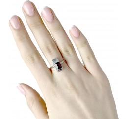 Серебряное кольцо SilverBreeze с натуральным гранатом (1989036) 18.5 размер