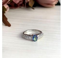 Серебряное кольцо SilverBreeze с натуральным мистик топазом (2013839) 17.5 размер