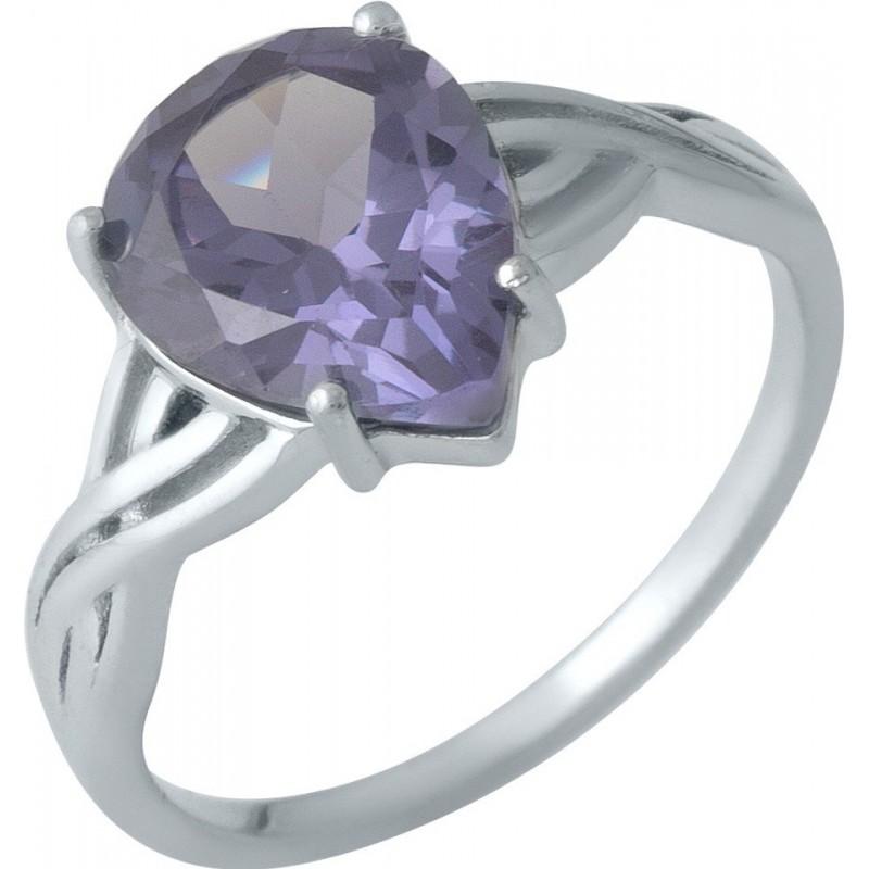 Серебряное кольцо SilverBreeze с олександритом (1989173) 17.5 размер