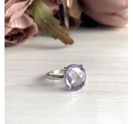Серебряное кольцо SilverBreeze с натуральным аметистом (1965894) 18 размер