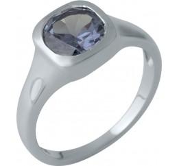Серебряное кольцо SilverBreeze с олександритом (1989203) 18 размер