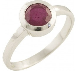 Серебряное кольцо SilverBreeze с натуральным рубином (1192436) 17.5 размер