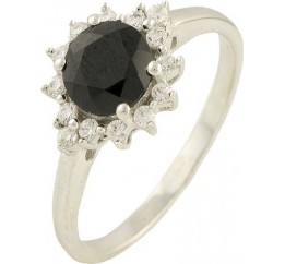 Серебряное кольцо SilverBreeze с натуральным сапфиром (1197752) 18 размер