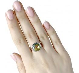 Серебряное кольцо SilverBreeze с натуральным мистик топазом (1837870) 17 размер