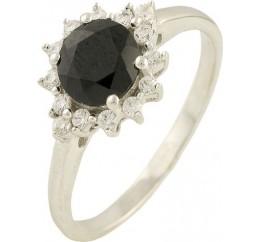Серебряное кольцо SilverBreeze с натуральным сапфиром (1197752) 17 размер