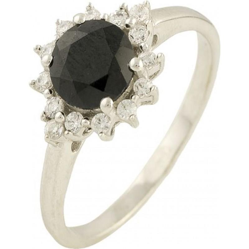 Серебряное кольцо SilverBreeze с натуральным сапфиром (1197752) 16.5 размер