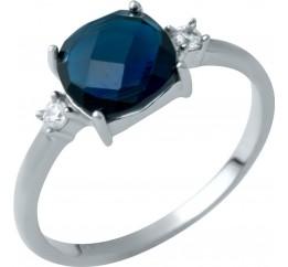 Серебряное кольцо SilverBreeze с сапфиром nano (1946619) 17 размер
